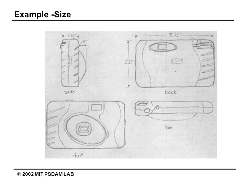 Example -Size © 2002 MIT PSDAM LAB