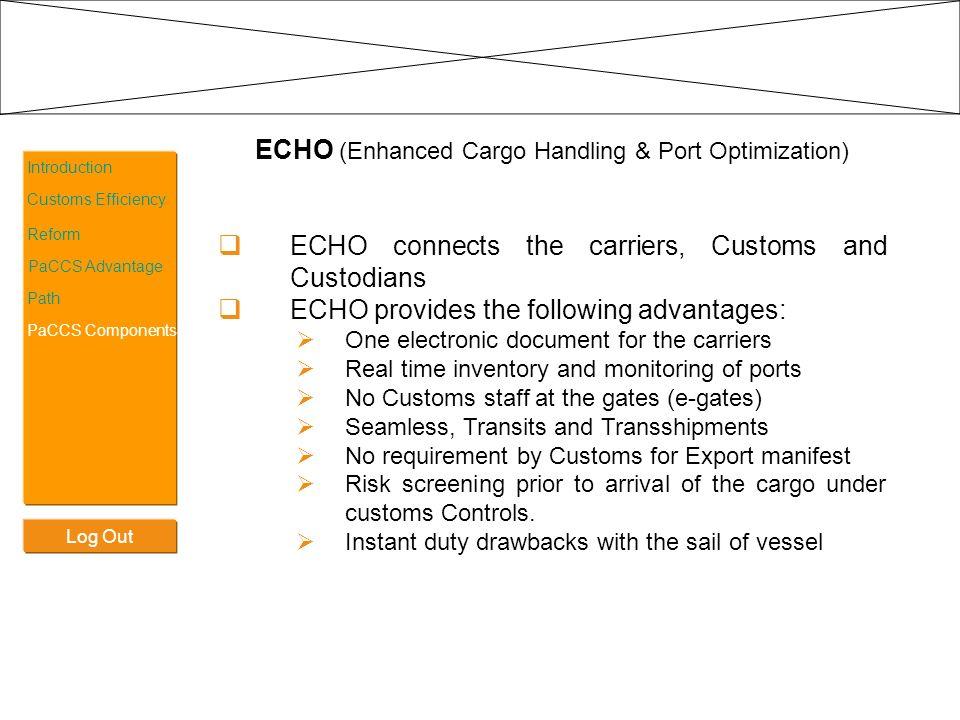 ECHO (Enhanced Cargo Handling & Port Optimization)