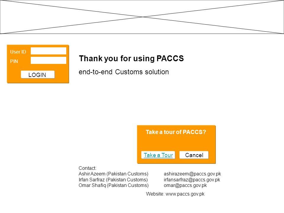 Website: www.paccs.gov.pk