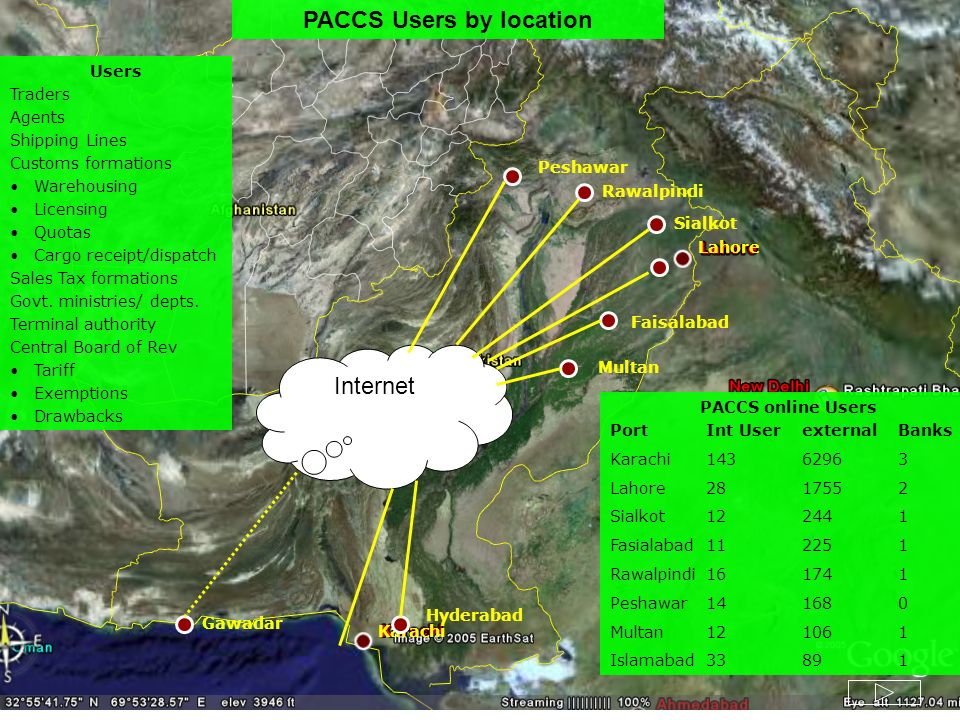 PACCS Users by location
