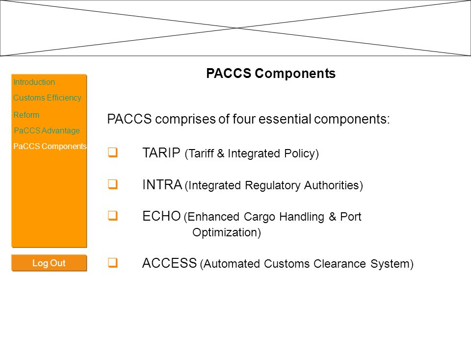 PACCS comprises of four essential components: