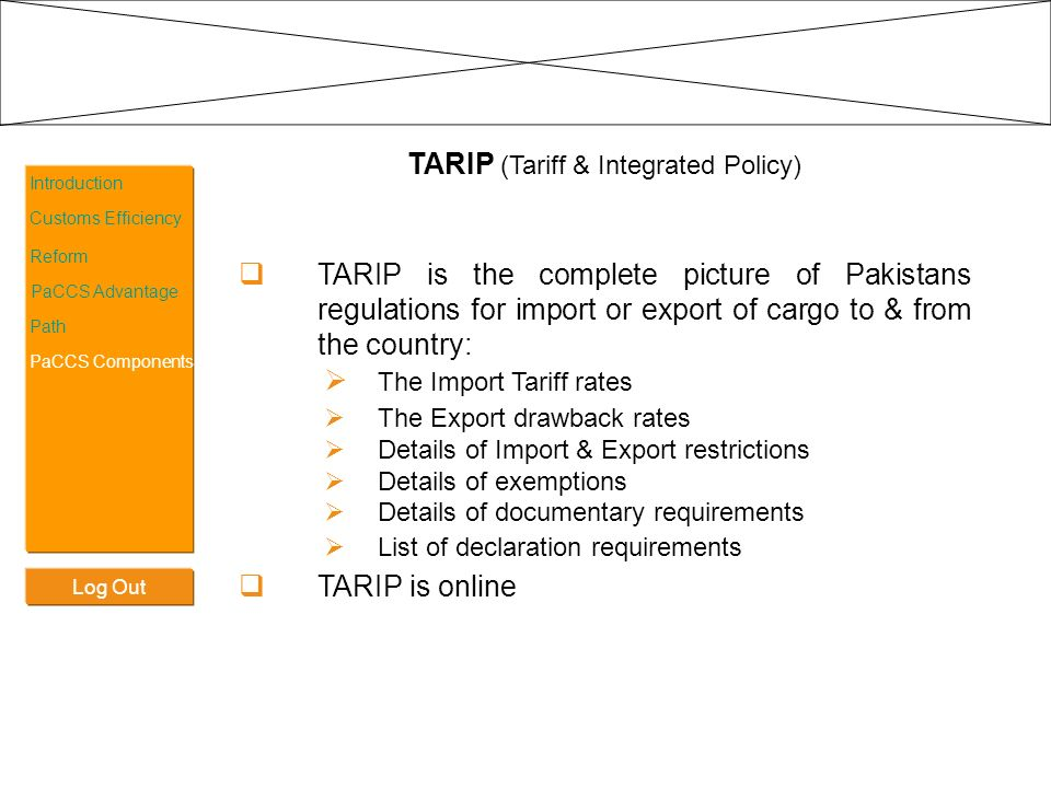 TARIP (Tariff & Integrated Policy)