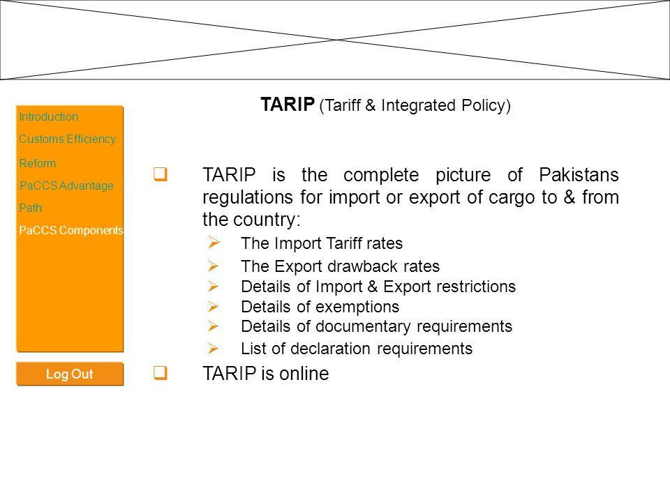 TARIP (Tariff & Integrated Policy)