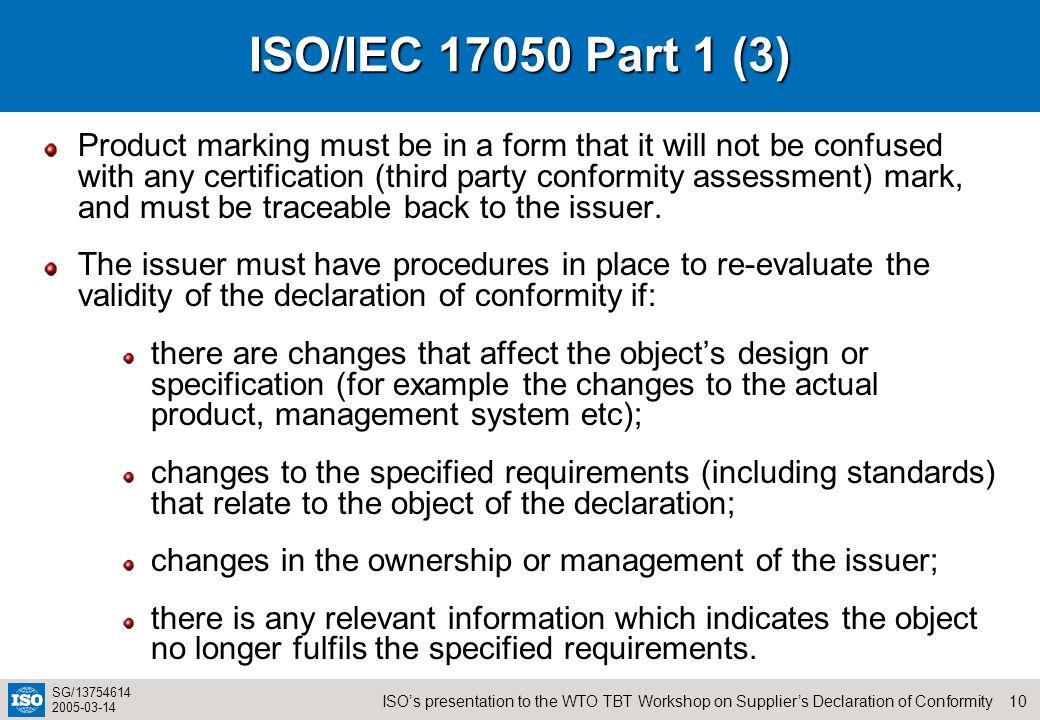 ISO/IEC 17050 Part 1 (3)