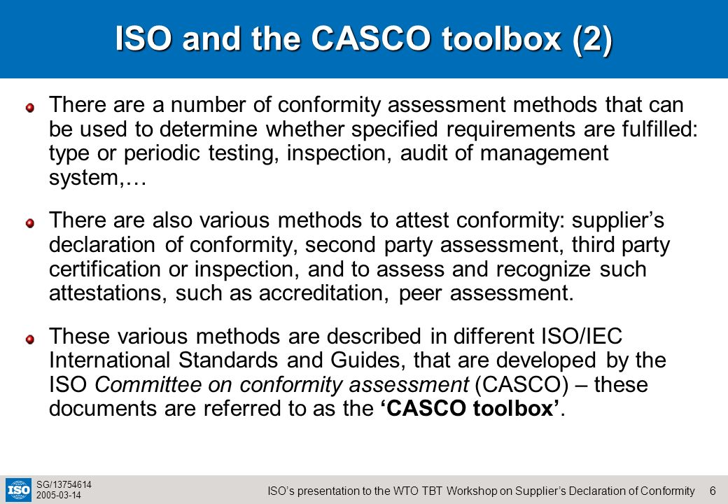 ISO and the CASCO toolbox (2)