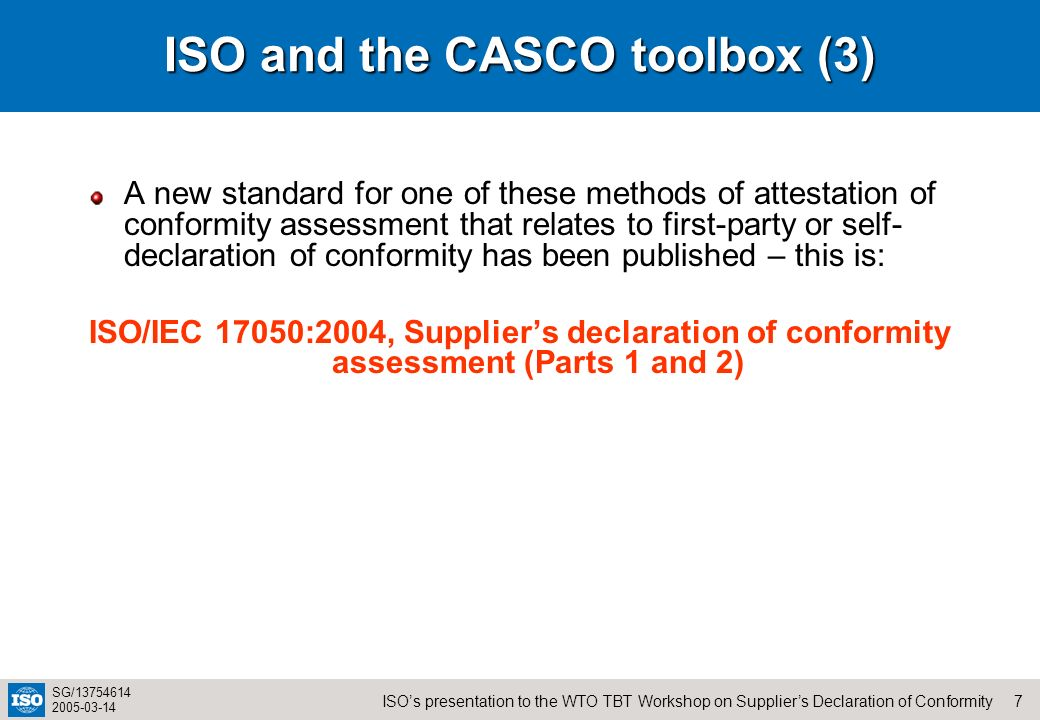 ISO and the CASCO toolbox (3)