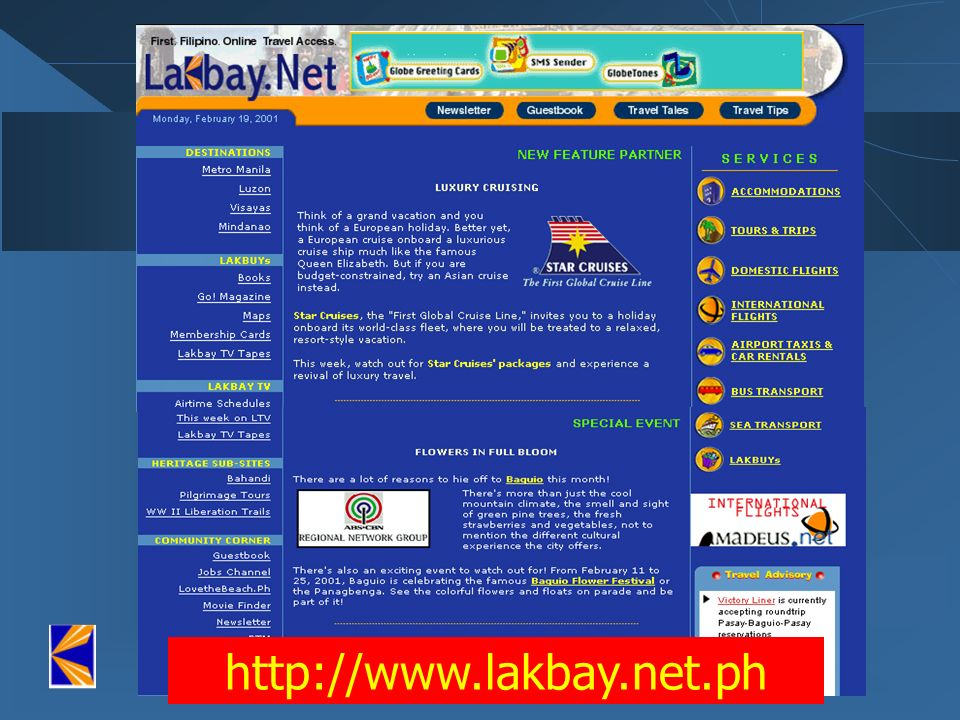 (Front door) http://www.lakbay.net.ph