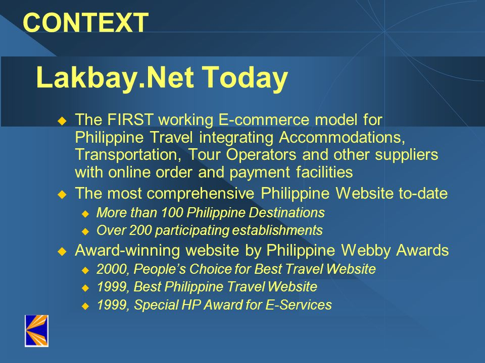 Lakbay.Net Today CONTEXT