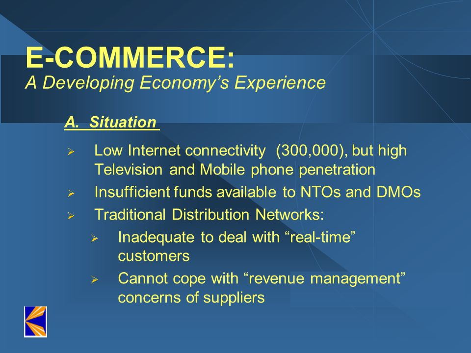 E-COMMERCE: A Developing Economy's Experience