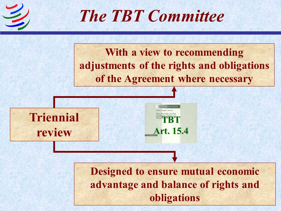 The TBT Committee Triennial review