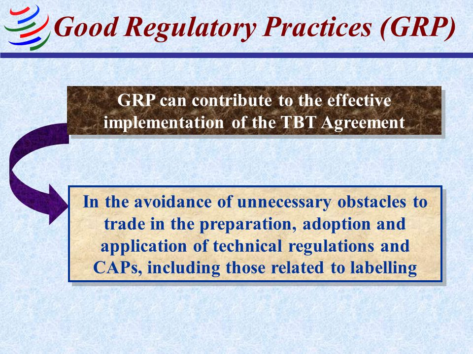 Good Regulatory Practices (GRP)