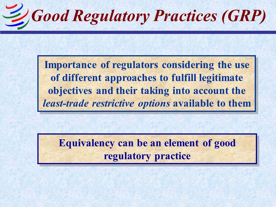 Good Regulatory Practices (GRP)