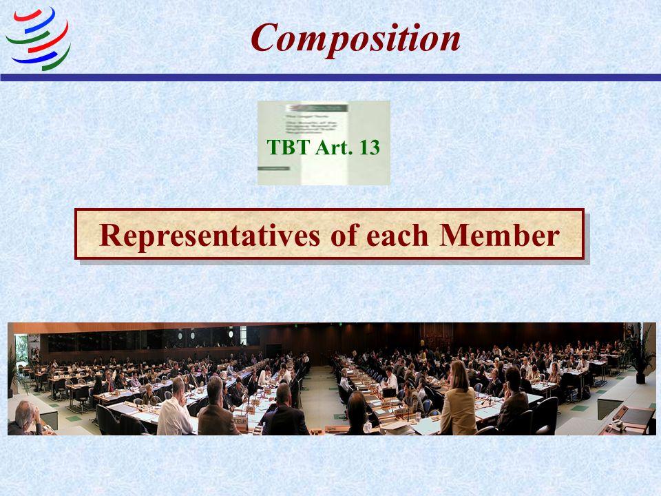 Representatives of each Member