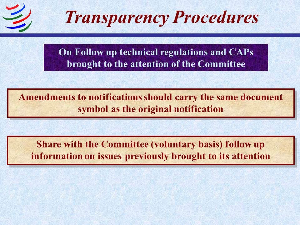 Transparency Procedures