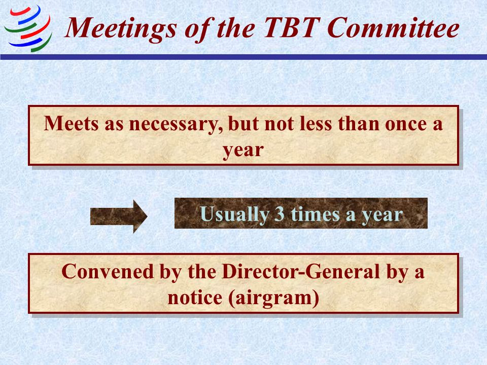 Meetings of the TBT Committee