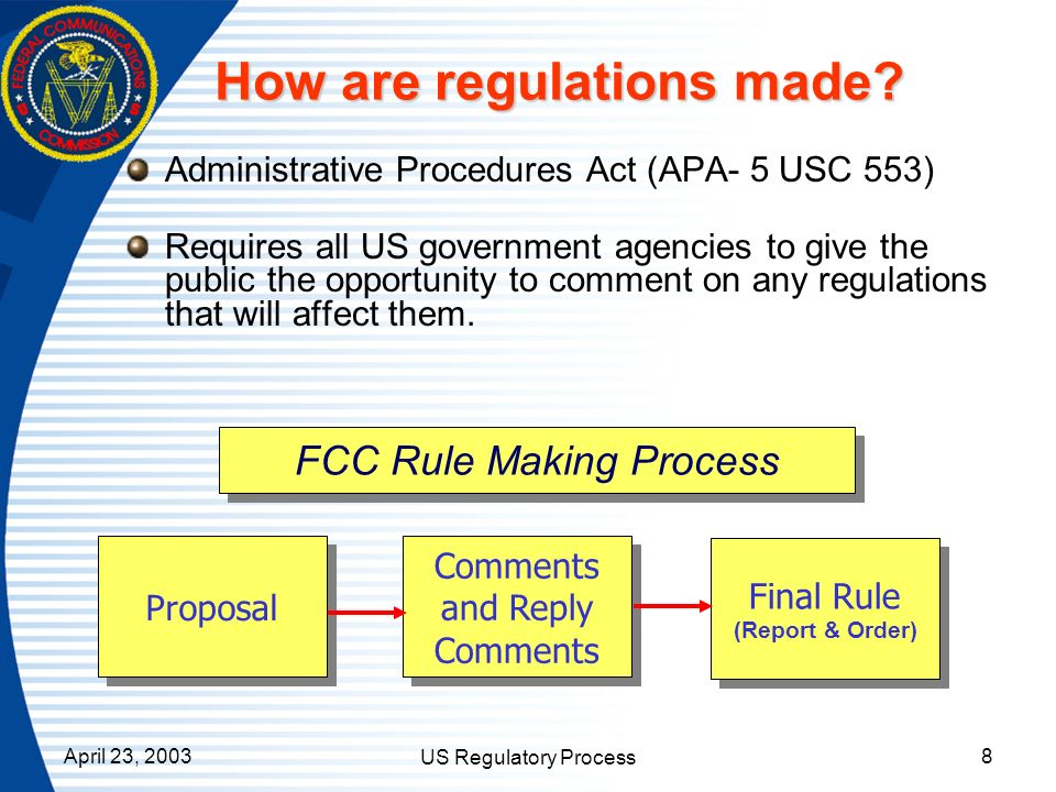 How are regulations made