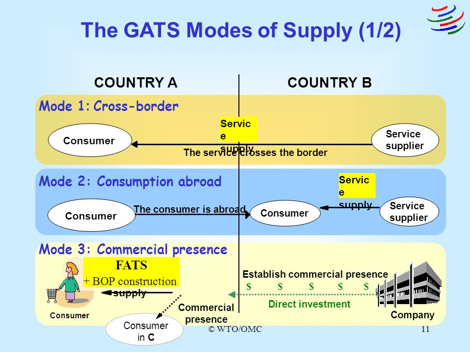 The GATS Modes of Supply (1/2)
