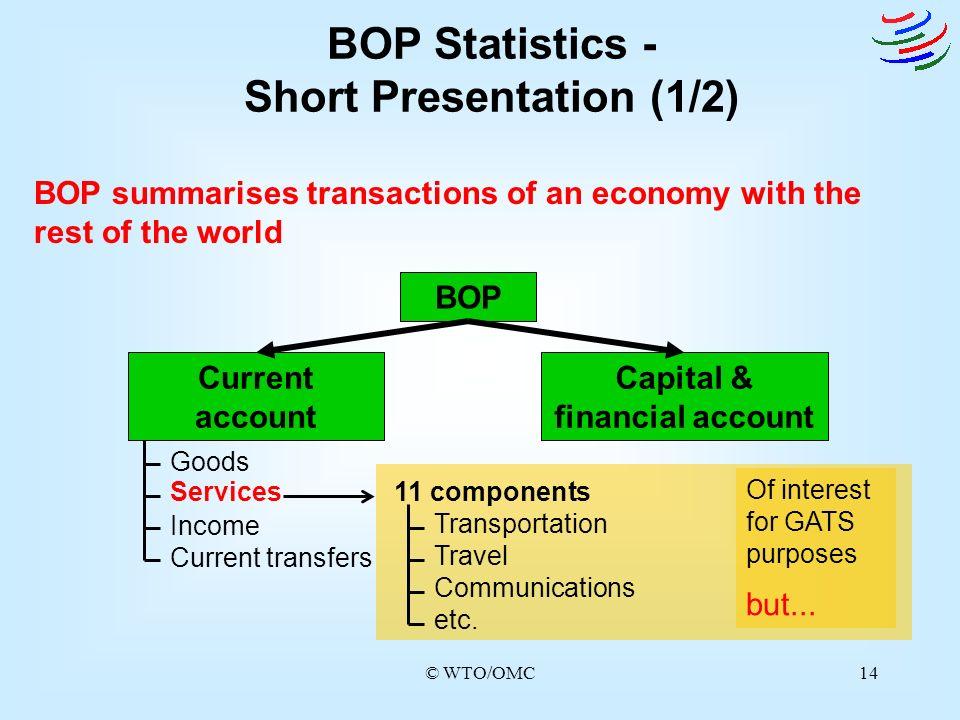 Short Presentation (1/2) Capital & financial account