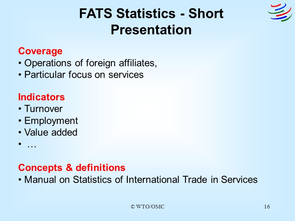 FATS Statistics - Short Presentation
