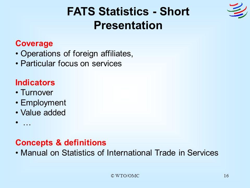 FATS Statistics - Short Presentation