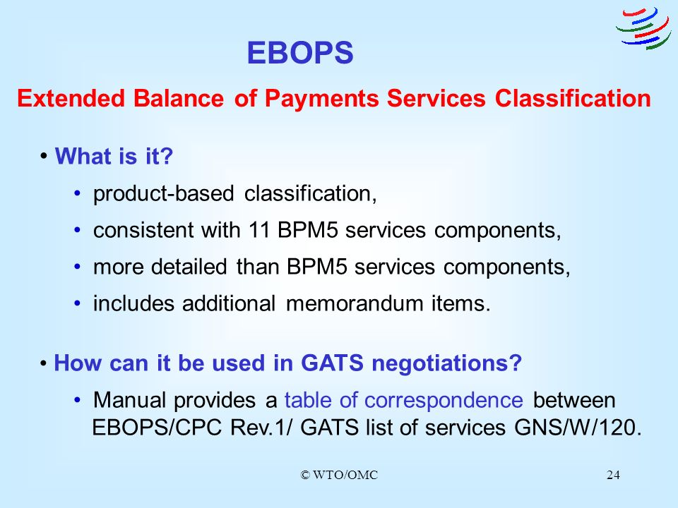 EBOPS Extended Balance of Payments Services Classification What is it