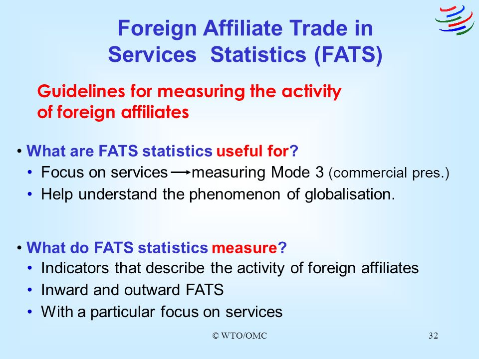 Foreign Affiliate Trade in Services Statistics (FATS)