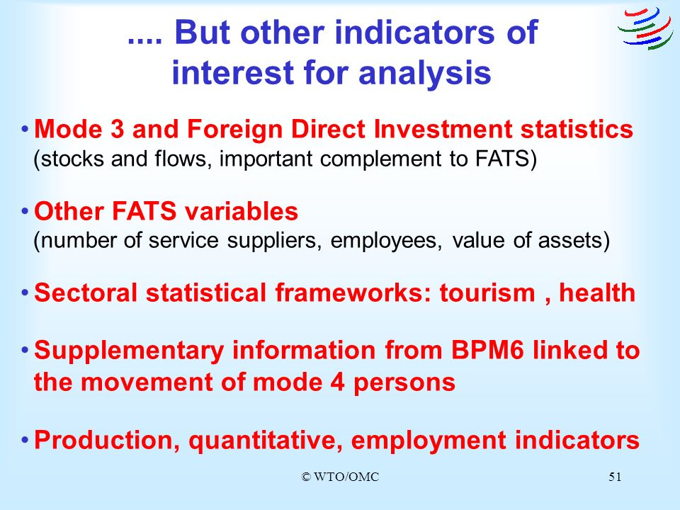 .... But other indicators of interest for analysis
