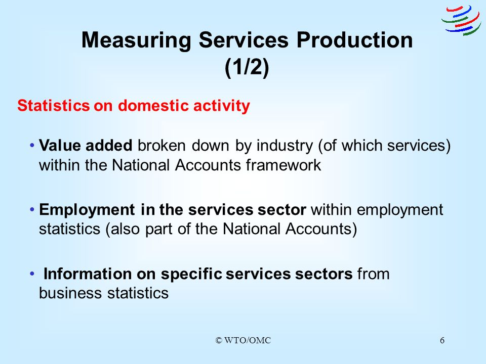 Measuring Services Production (1/2)