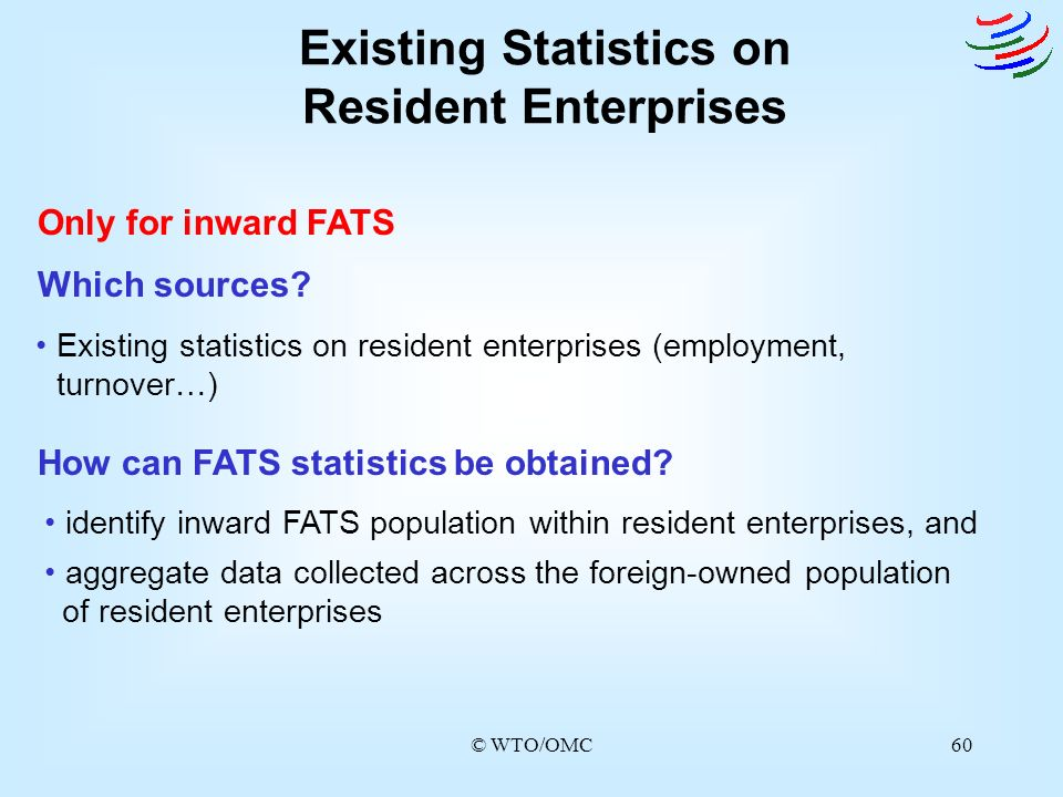 Existing Statistics on Resident Enterprises