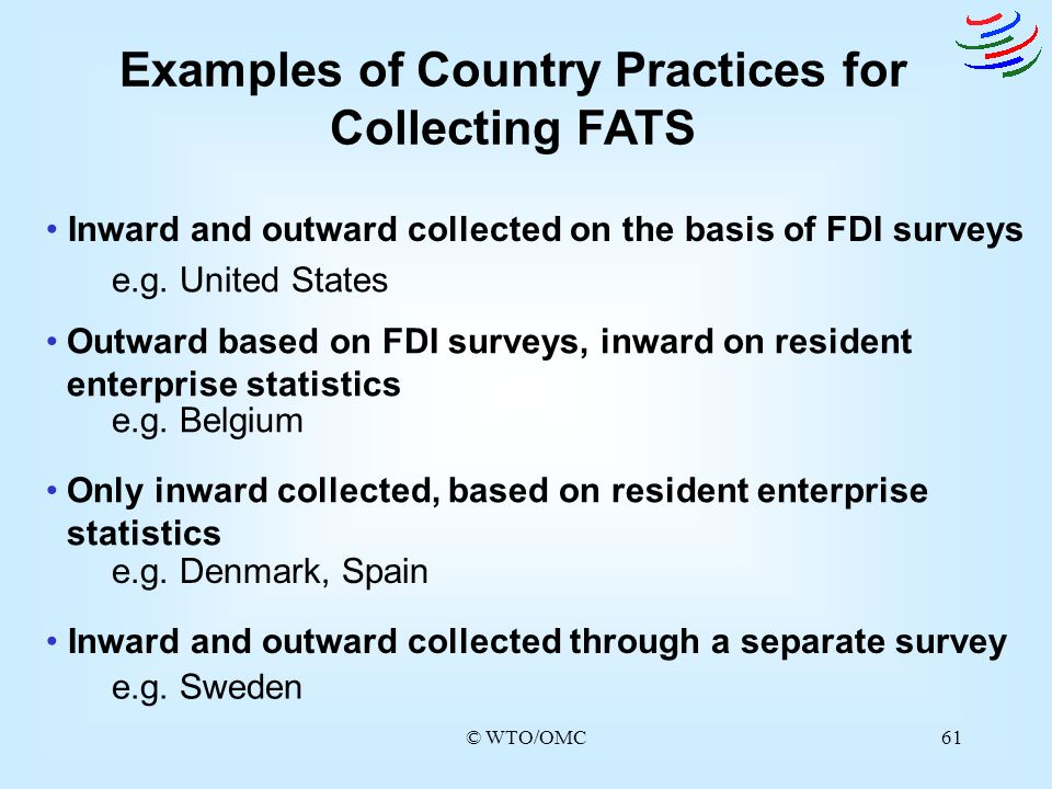 Examples of Country Practices for Collecting FATS