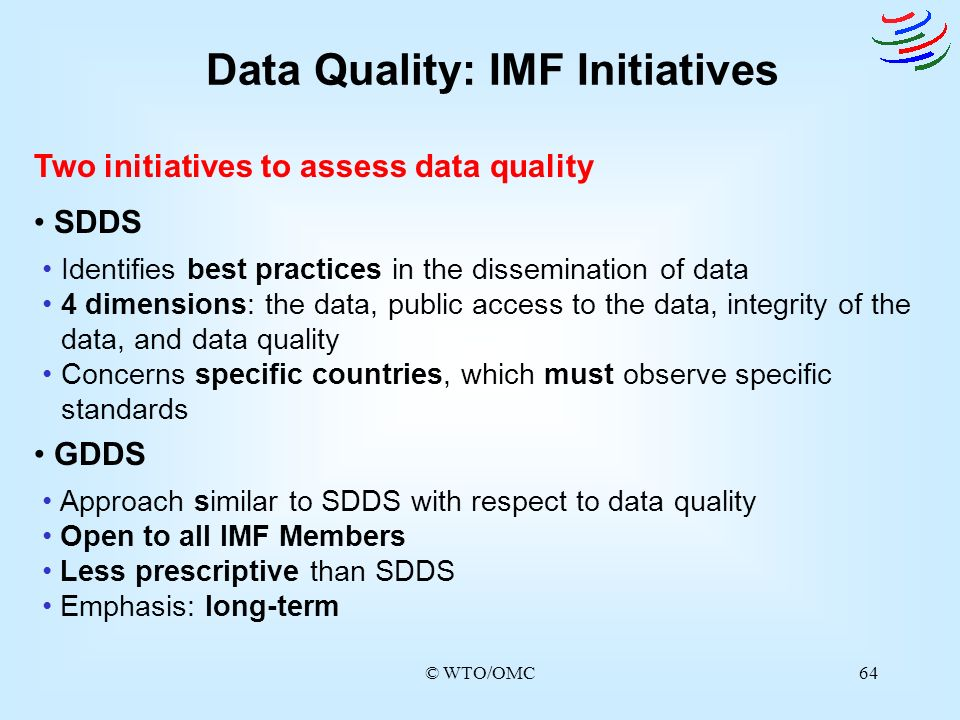 Data Quality: IMF Initiatives