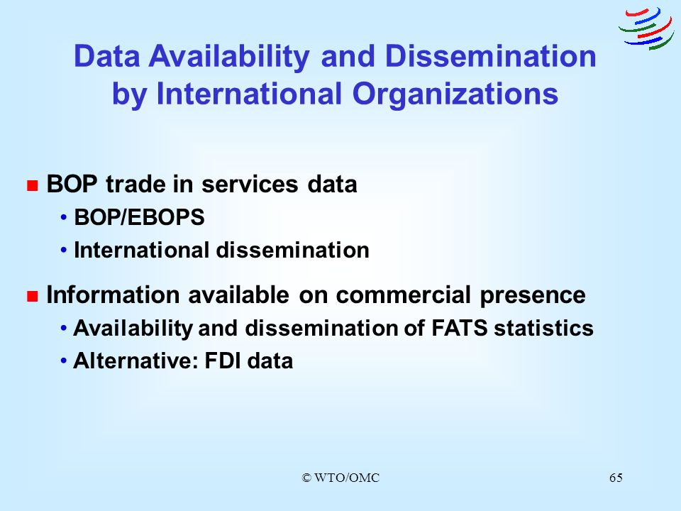 Data Availability and Dissemination by International Organizations