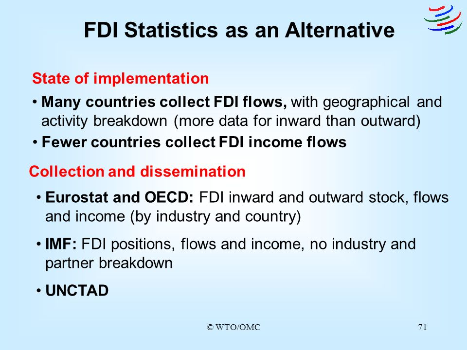 FDI Statistics as an Alternative