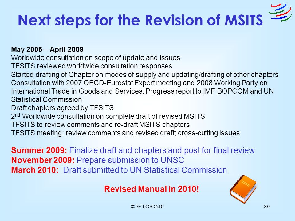 Next steps for the Revision of MSITS