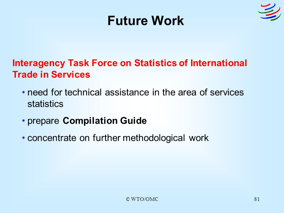 Future Work Interagency Task Force on Statistics of International Trade in Services.