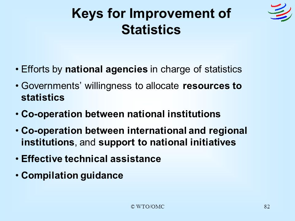 Keys for Improvement of Statistics