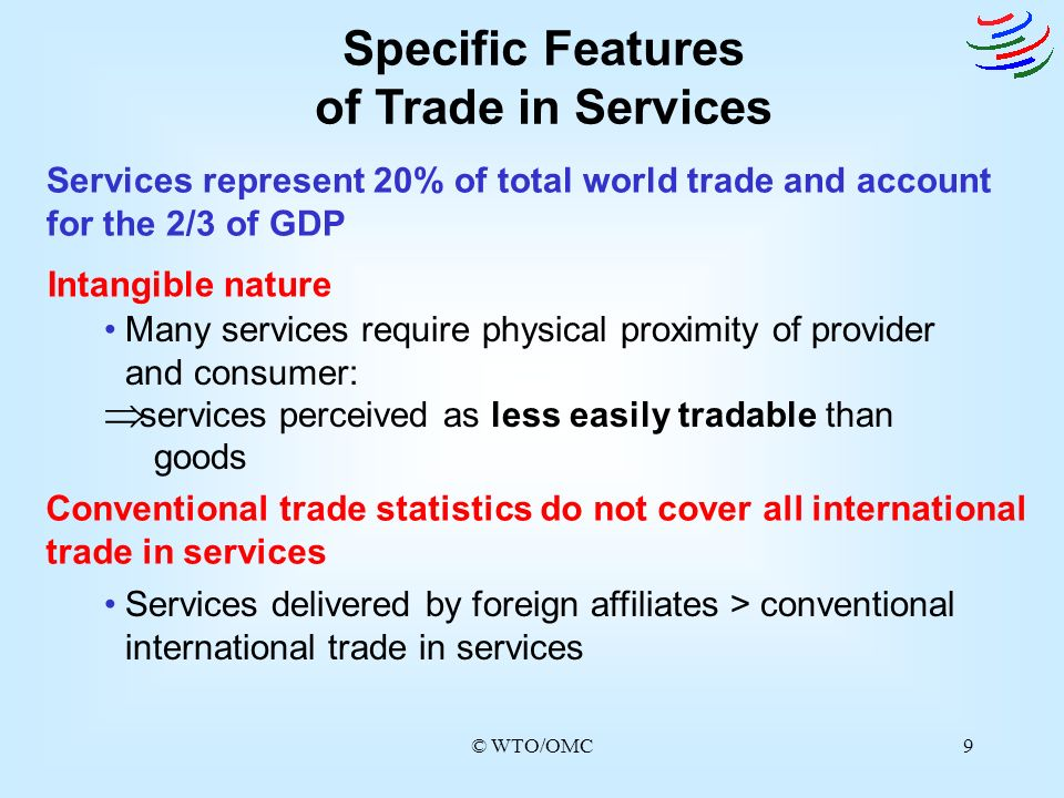 Specific Features of Trade in Services