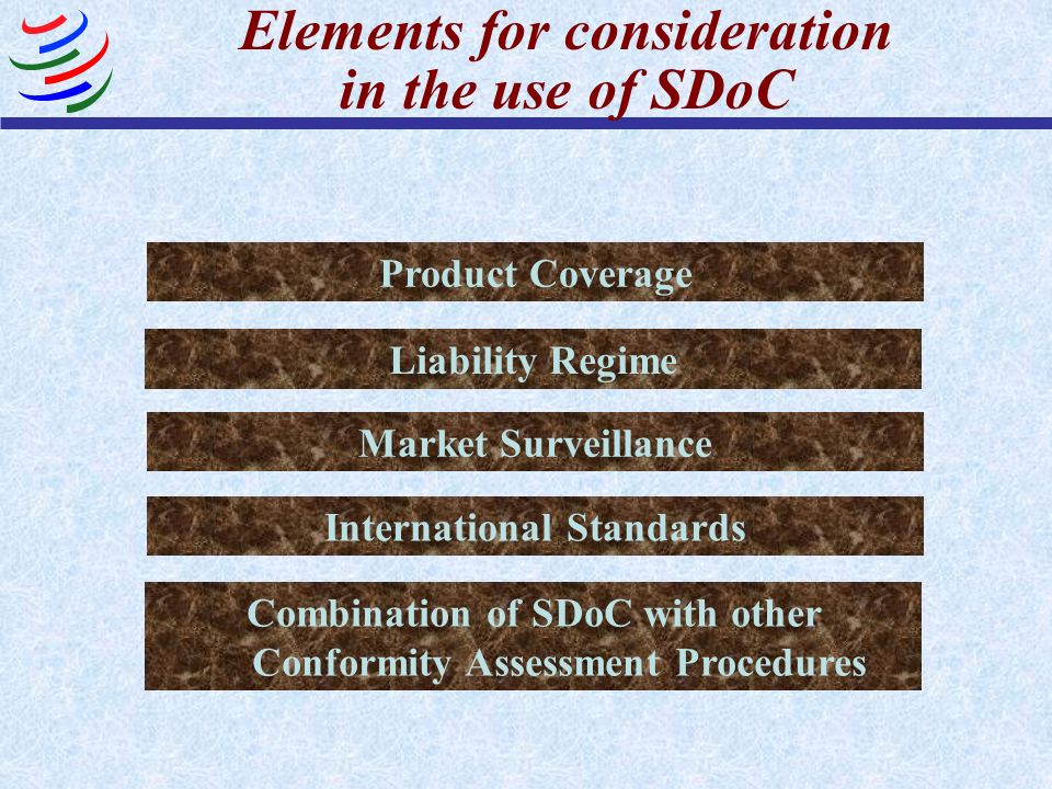Elements for consideration in the use of SDoC