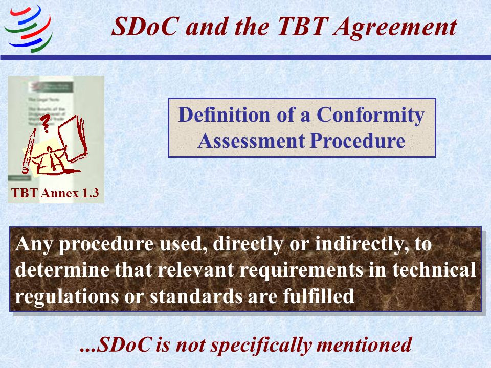 SDoC and the TBT Agreement