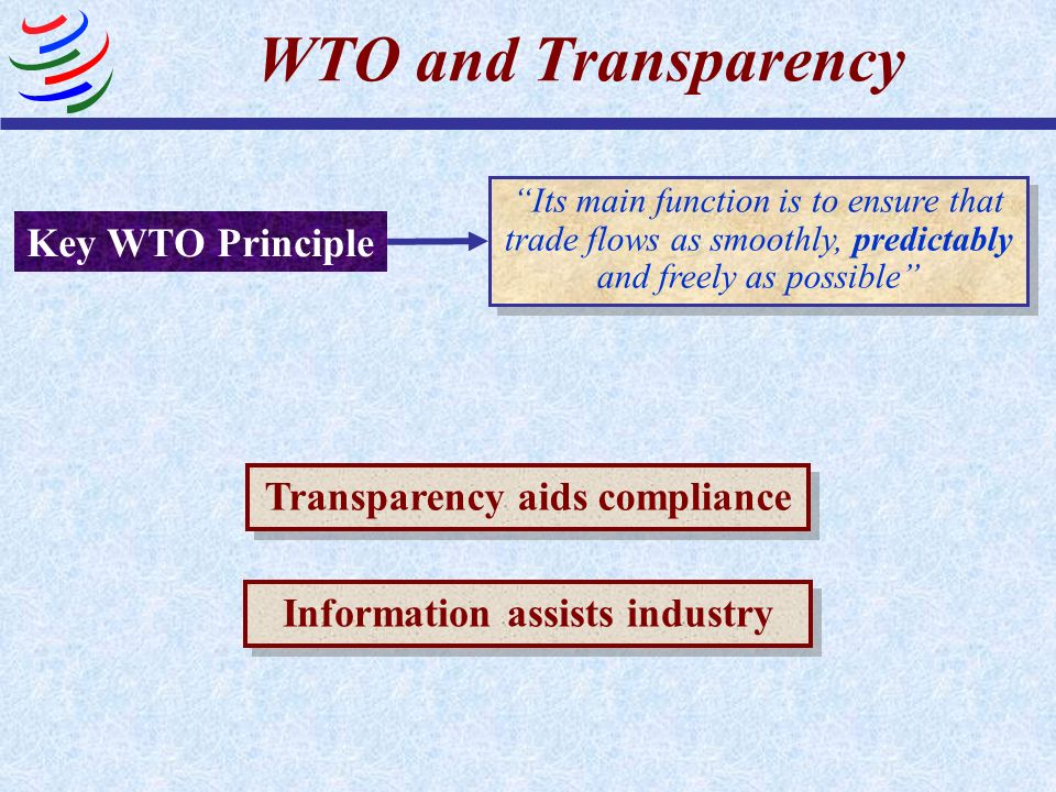Transparency aids compliance Information assists industry