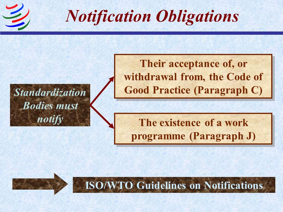 Notification Obligations