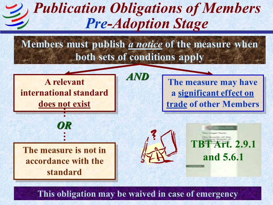 Publication Obligations of Members Pre-Adoption Stage