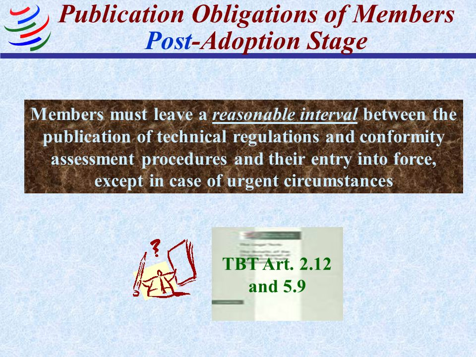 Publication Obligations of Members Post-Adoption Stage