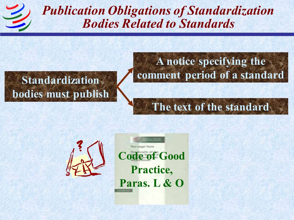 Publication Obligations of Standardization Bodies Related to Standards