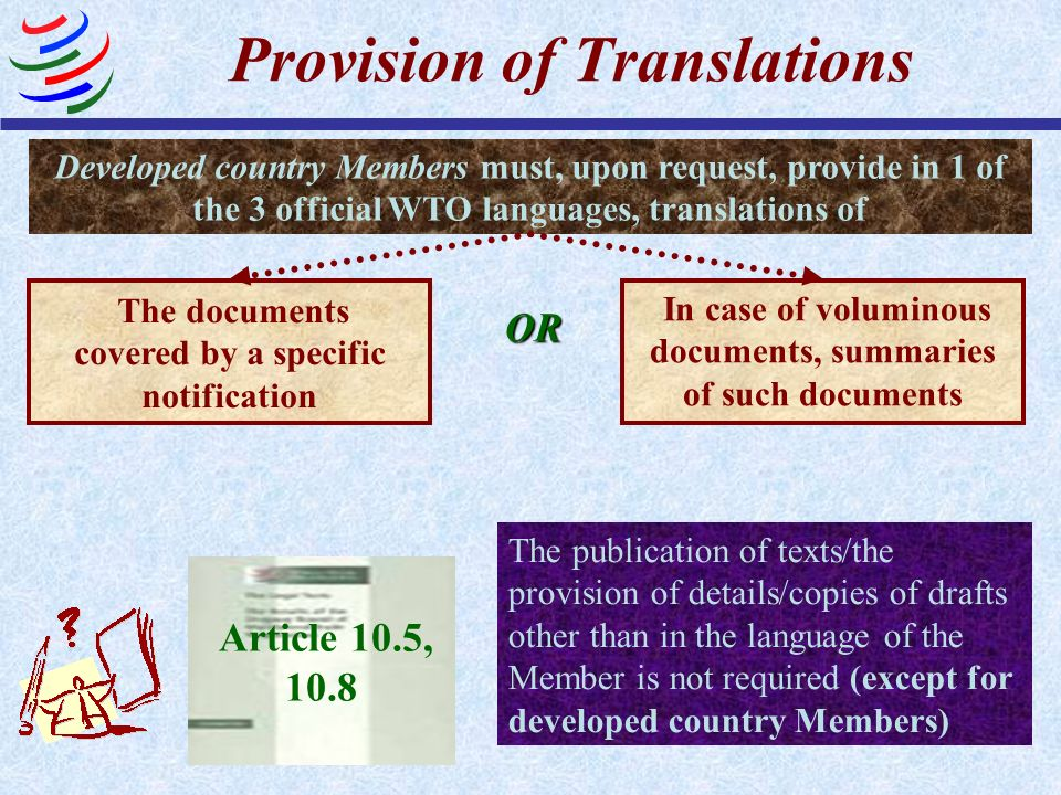 Provision of Translations