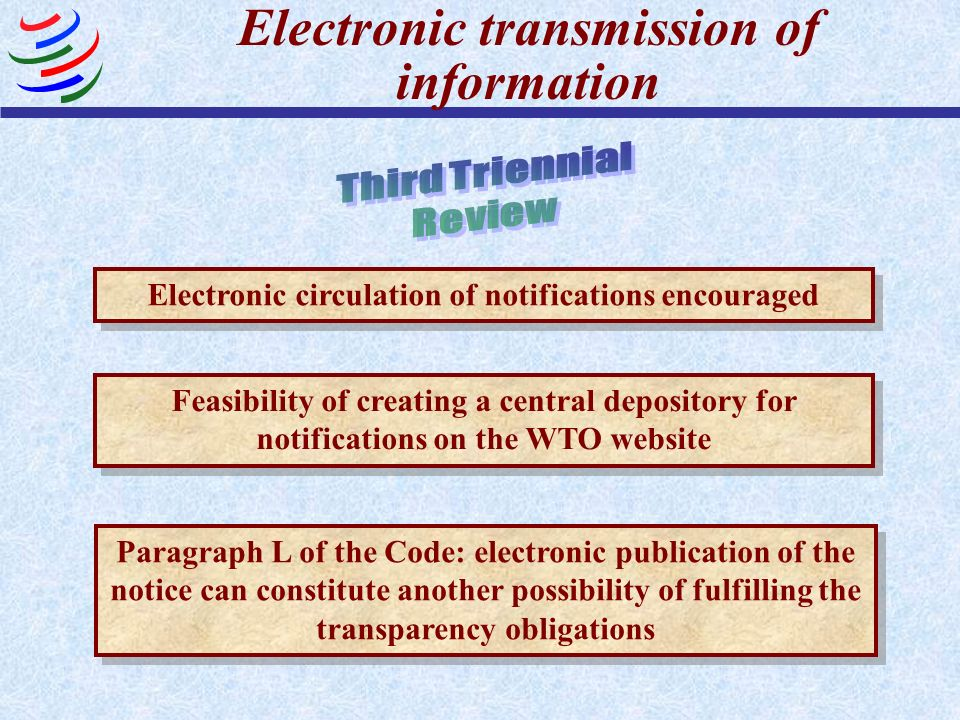 Electronic transmission of information
