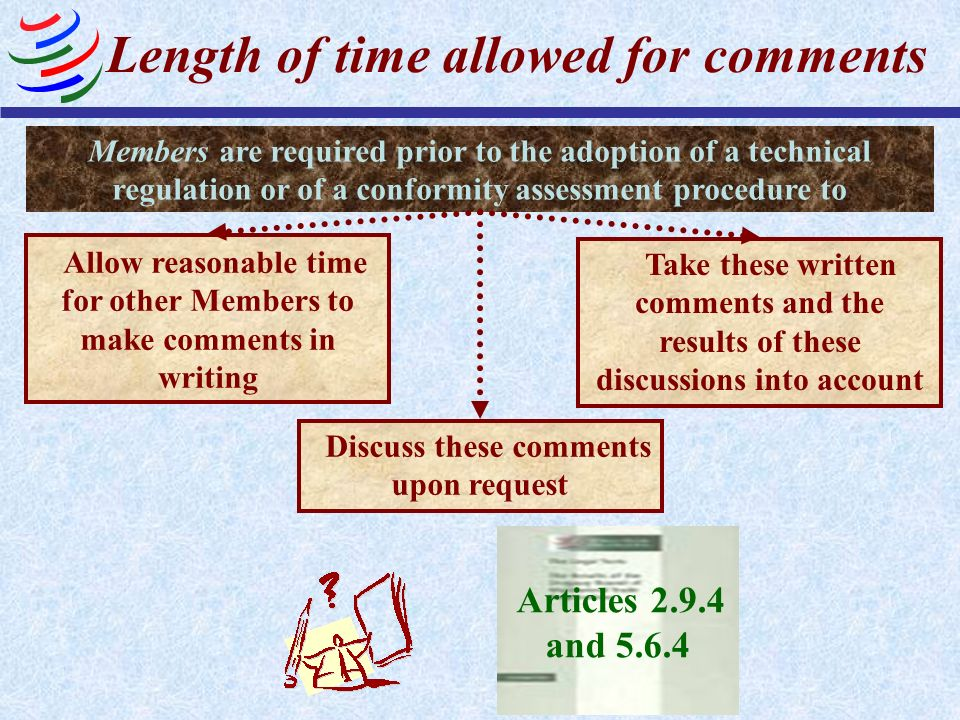 Length of time allowed for comments