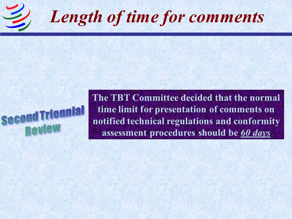 Length of time for comments