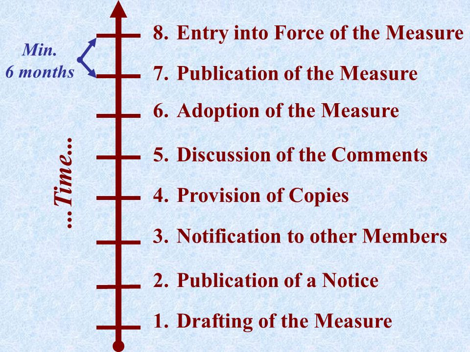 ...Time... Entry into Force of the Measure Publication of the Measure