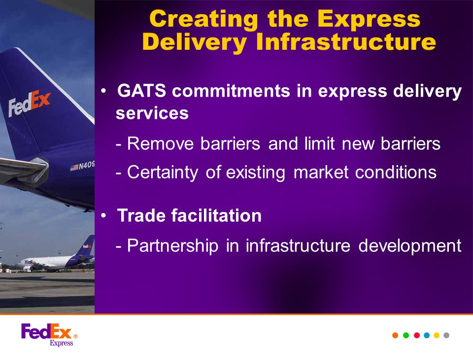 Creating the Express Delivery Infrastructure